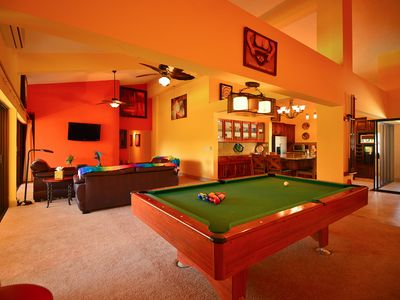 Great Room - featuring 16 foot ceilings , pool table and large entertaining area