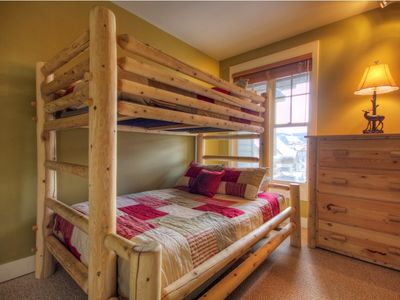 Bedroom 3 - Bunk Room with twin over double bunk bed