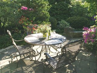 Saugatuck / Douglas cottage photo - The garden terrace at The Lily
