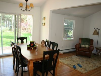 Dining Room w Sliding Glass Doors to Back Yard
