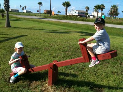 4 playgrounds on the island - three within walking distance
