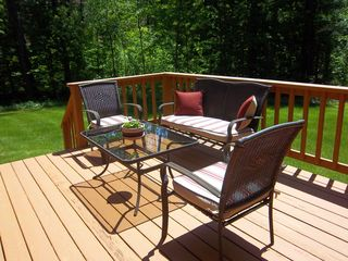 Intervale townhome photo - Back deck
