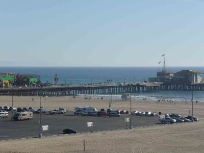 Santa Monica apartment rental - Pier view from apt. Cross the street and you are on the pier. 15th floor