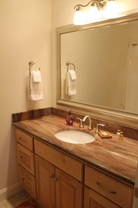 Bathroom 3 & 4 are same (granite, maple cabinet, and tile floors)