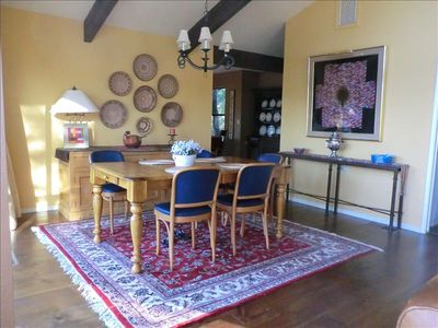 This is a view of our dining room from the living room