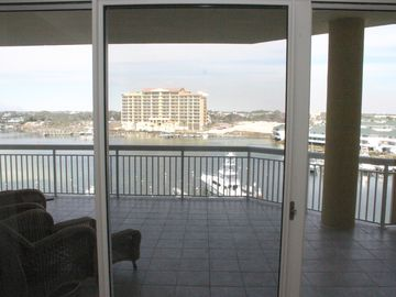 Harbor Landing 203A - View through Floor-to-Ceiling Sliding Doors