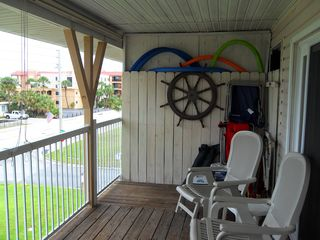Indian Rocks Beach condo photo - Great 24ft porch