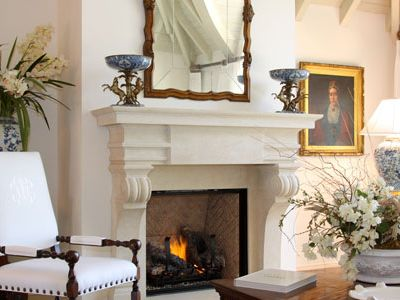 Delray Beach estate rental - Fireplace