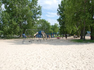 Veterans Memorial Park beach playground.