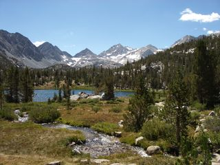 Mammoth Lakes townhome photo - Beautiful Lil' Lakes Valley, streams, flowers, mtn
