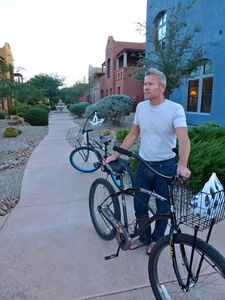 Two cruisers make exploring Tubac that much more fun.