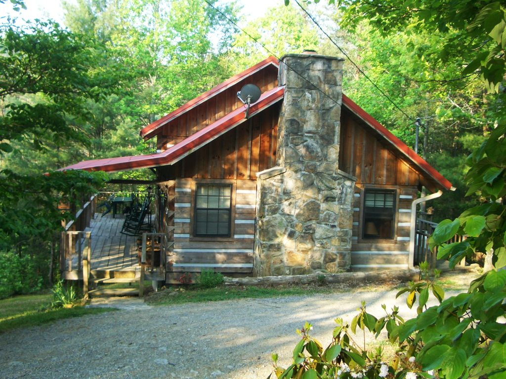 Real Log Cabin With Beautiful Mountain Homeaway Townsend