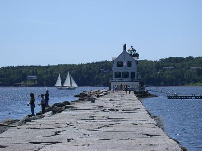 Rockland Breakwater lighthouse - one of several lighthouses nearby