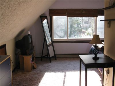 Towamensing Trails chalet rental - More space in Master Bedroom includes TV/DVD/VCR and bathroom