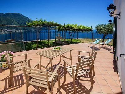 House / Villa, sea view on the Amalfi Coast, with garden, relax