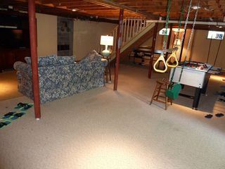 Biddeford house photo - New HUGE kids basement with swings, foosball, 42' HDTV, videos & ping-pong. Fun!