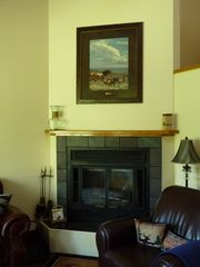 Columbia Falls condo photo - Kick Back~Relax`~ a real Montana WOOD burning fire!