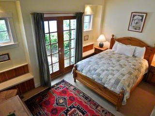 Edgartown house photo - Bedroom #2 - Queen Bed, French Doors To Brick Patio. First Floor