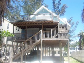 Both decks, face the Gulf of Mexico. - Fort Myers Beach house vacation rental photo