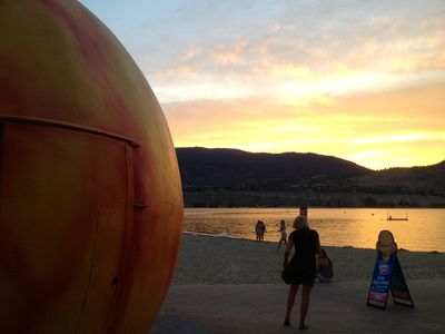 The Penticton Peach tanning on the beach is just down the street!