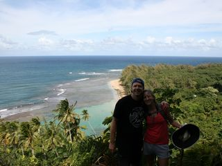 Princeville condo photo - Ke'e Beach from up on Kalalau Trail - great snorkeling at Ke'e Beach
