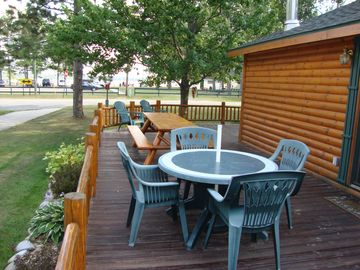 Plenty of seating for BBQ Lunches or Dinners