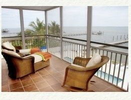 Lanai overlooking pool and Roosevelt Chanel/Pine Island Sound Intercoastal