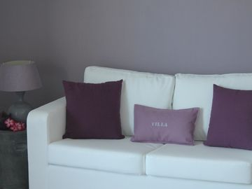A vey cosy lounge in the master suite