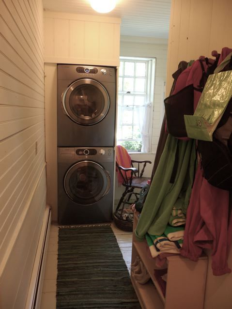 Convenient new energy-efficient washer/dryer off Kitchen on first floor.