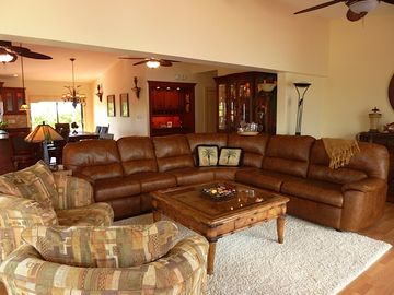 Large, comfortable, and professionally designed living area is great for family