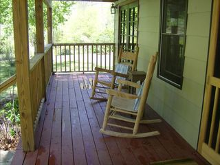 Asheville house photo - Enjoy the Cane River from our front porch rockers