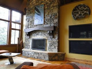 Deer Valley house photo - View of Great Room with 2 flat screen TV's and stone fireplace