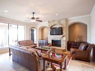 Lago Vista house photo - Beautiful family room overlooking lake Travis