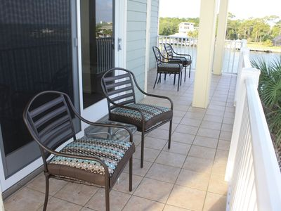 Furnished decks provide front row seats for sunset viewing