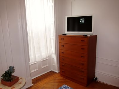 Brooklyn apartment rental - Mid century teak dresser