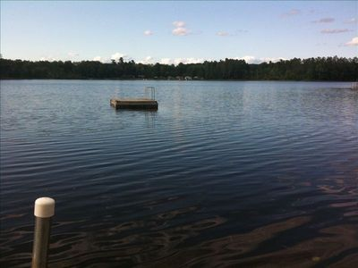 Stone Lake house rental - From the dock. Peaceful, beautiful Schoolhouse Lake