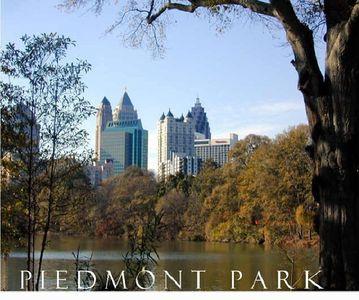Piedmont Park - 1/2 a block away