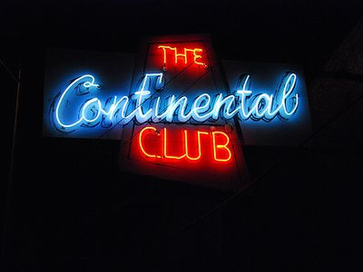 Austin townhome rental - Catch a performance at the famous Continental Club.
