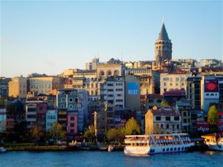 Istanbul apartment photo - Your flat just to right and down 1/2 block from this Istanbul icon -Galata Tower