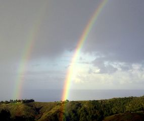 Big Sur house photo - A double rainbow