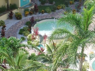 Treasure Island condo rental - Beautiful courtyard with fountains to stroll through.