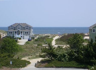 Picture of beach path adjacent to the beach house (not a view picture).