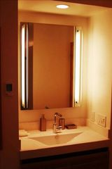 Stateline cabin photo - Second bathroom - a beautiful piece of contemporary art in interior design