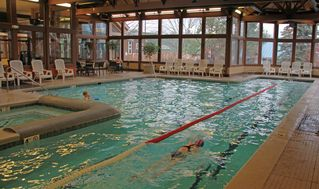 Crystal Mountain, Thompsonville house photo - Indoor Pool & Hot Tub at the Peak