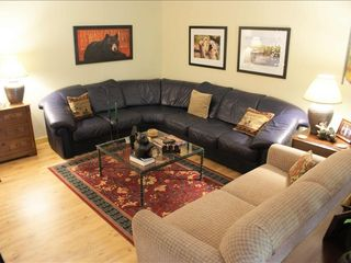Ellijay cabin photo - Spacious Basement - Sectional, Full Size Sofa Bed & Queen Bed