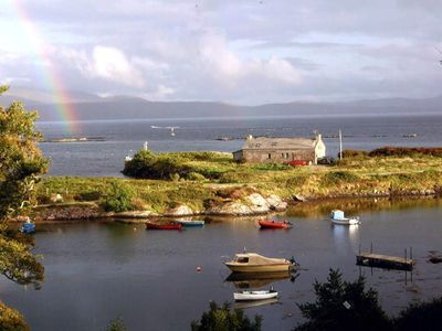 Caherdaniel cottage rental - Rainbow over Pier Cottage