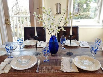Santa Fe house rental - Handcrafted dining table seats 8