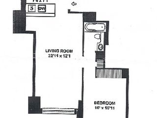Financial District condo photo - The floor plan