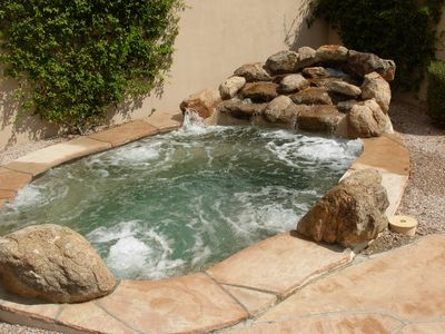 Gold Canyon house rental - Heated pool, water feature, lighted.