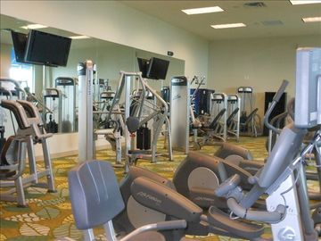 Work-out room with state-of- the-art exercise equipment.